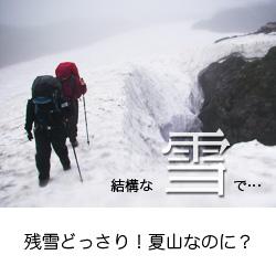 縦走路の雪渓