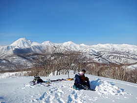 知床連山と英嶺山