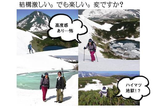 天頂山火口湖めぐり画像