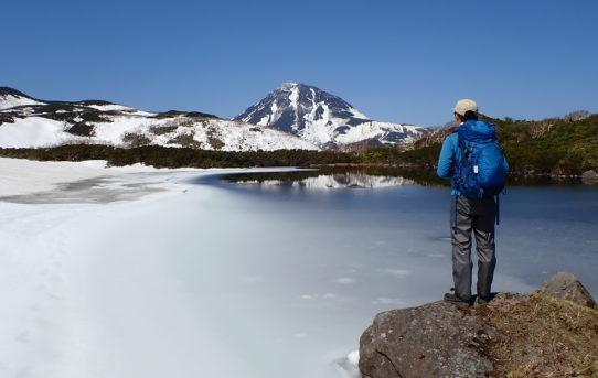 春の羅臼湖スノートレッキング